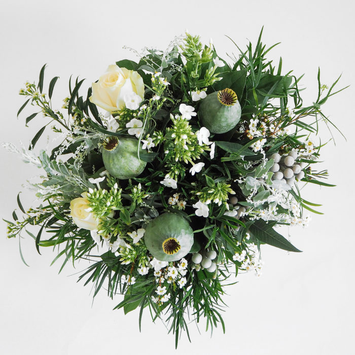 Floom Mad Lillies Bouquet White Green Poppy Pod 2