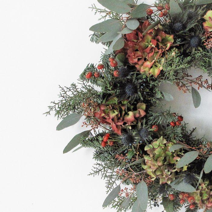 Floom Megan Lily Christmas Wreath Hydrangea 3