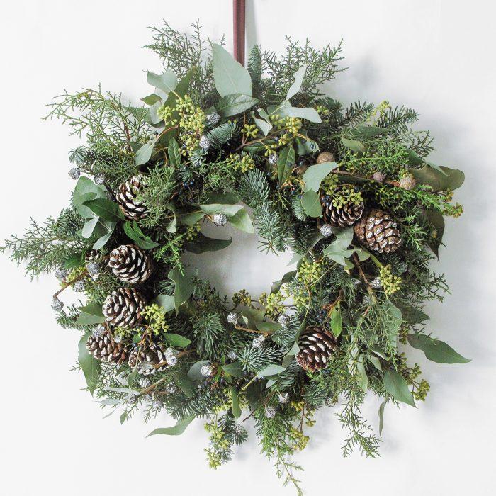 Floom Megan Lily Christmas Wreath Pine 1