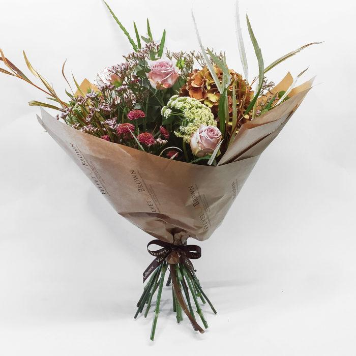Floom Velvet Brown English Hydrangea Rose 1