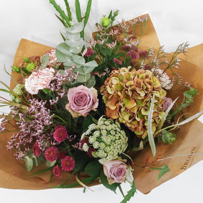Floom Velvet Brown English Hydrangea Rose 2