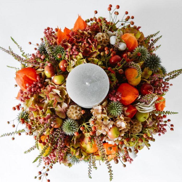 Floom Wabana Flowers Autumnal Candle Center Piece 2