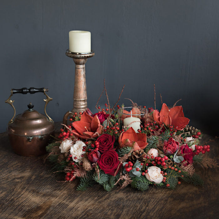 Floom Your London Florist Christmas Table Wreath 2