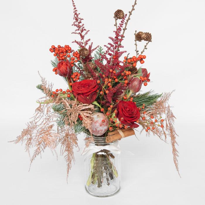 Floom Your London Florist Red Jam Jar 1
