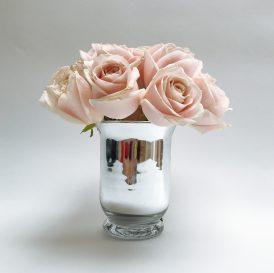 Floom Shilpa Reddt Pink Rose Silver Vase 1