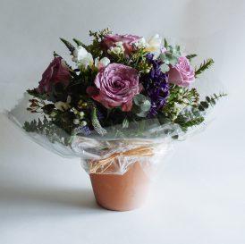 Floom Miss Moles Flower Emporium Lilac Lace Roses Freesia Waxflower 1