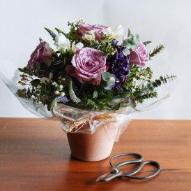 Floom Miss Moles Flower Emporium Lilac Lace Roses Freesia Waxflower 2