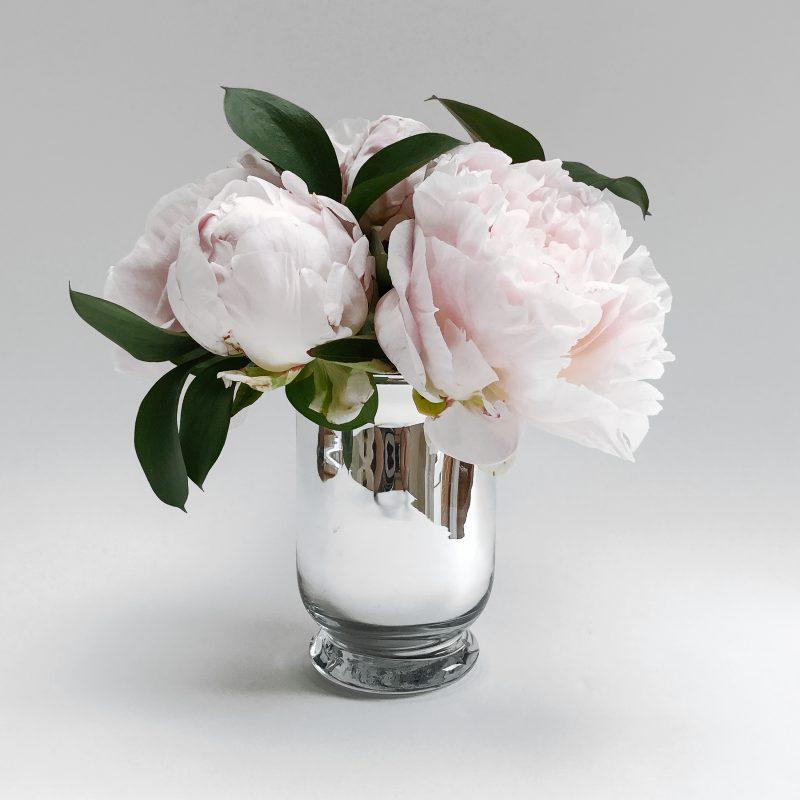 Primrose Hill Peony Silver Vase