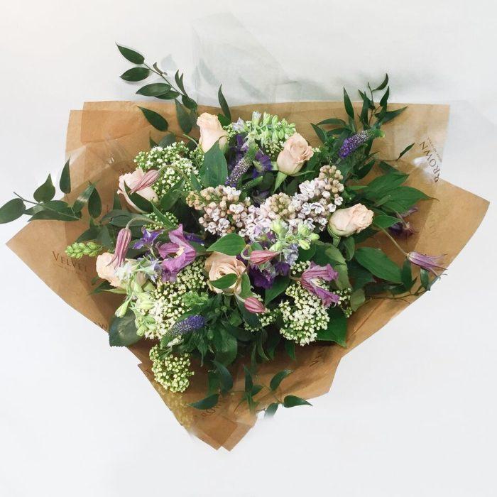 Lilac Bouquet Above