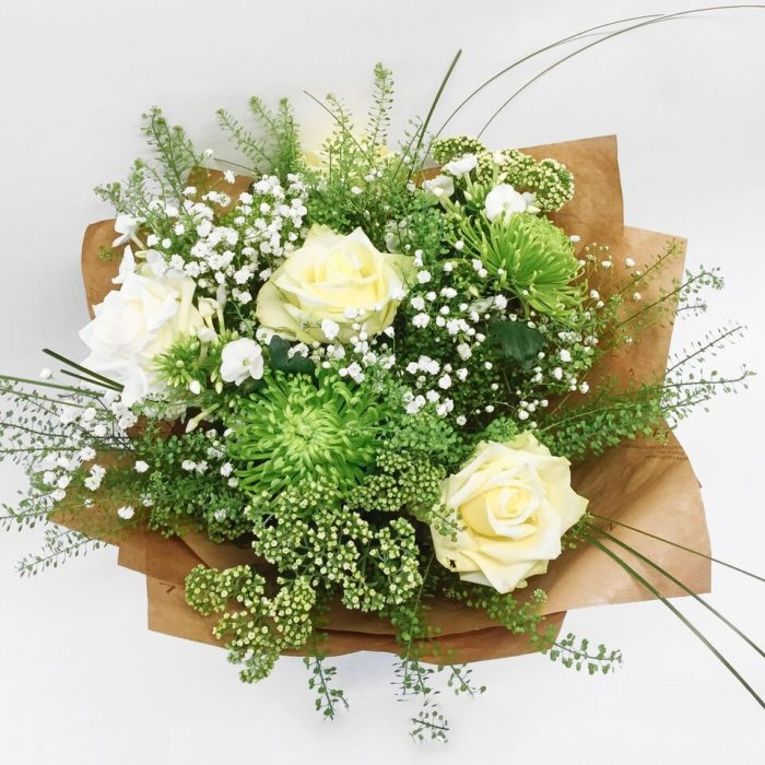 White And Green Bouquet Above