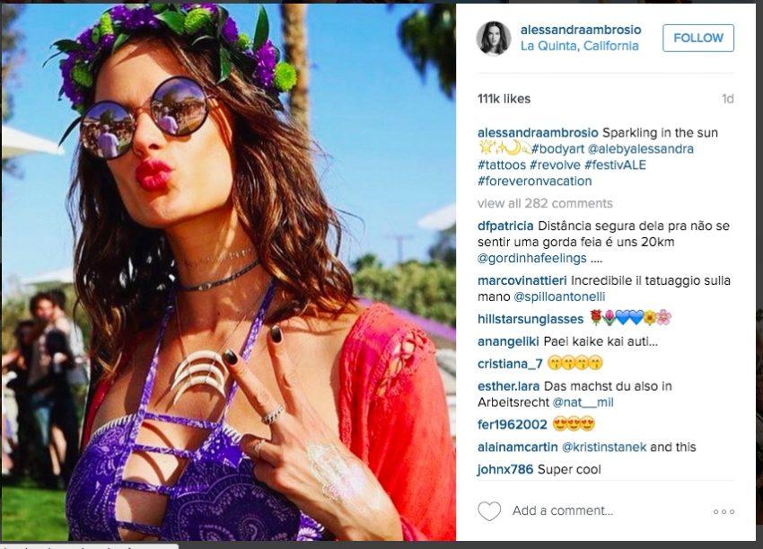 1 Floom Magazine Coachella Flower Crowns Alessandra Ambrosio 1