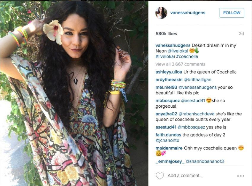 1 Floom Magazine Coachella Flower Crowns Vanessa Hudgens 1