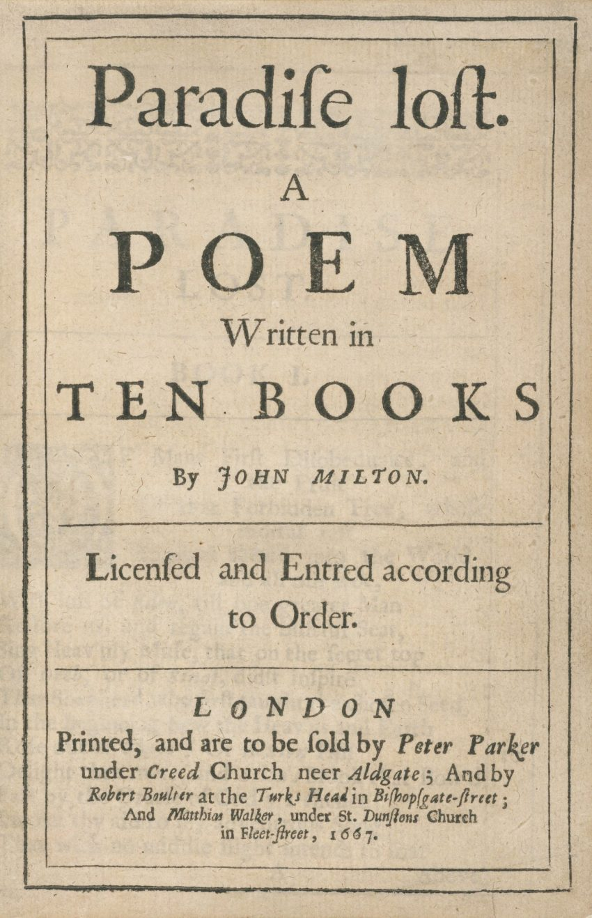 1 Floom Magazine Floom Books John Milton Paradise Lost 1