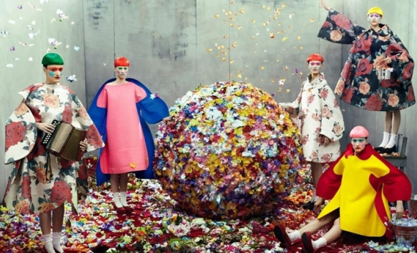 1 Floom Magazine Florals In Fashion Commes De Garcones Vogue Italia Radicalfashion Ivomilan 1