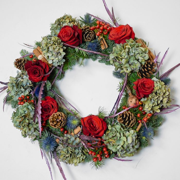 Floom Harleys Flowers Christmas Wreath Rose 1