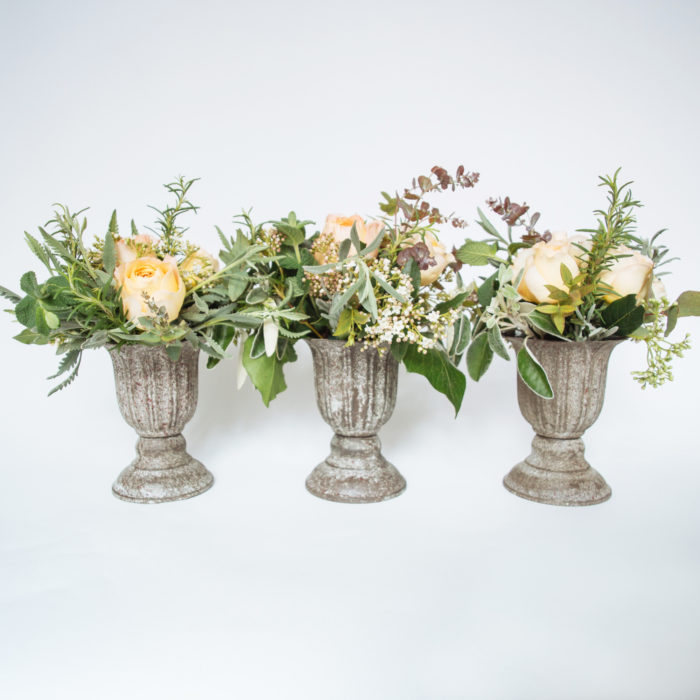 Floom The Real Flower Company Antique Rose Urn Trio 1