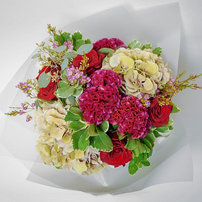 Floom Harleys Flowers Hydrangea Red Rose 2