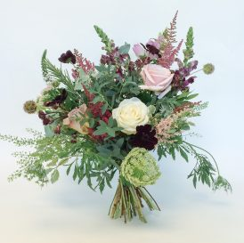 Floom Catkin And Pussywillow Flower Bouquet Chocolate Blush Rose Cosmos 1