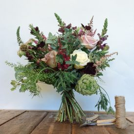 Floom Catkin And Pussywillow Flower Bouquet Chocolate Blush Rose Cosmos 2