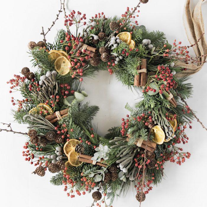 Floom Your London Florist Christmas Wreath 1