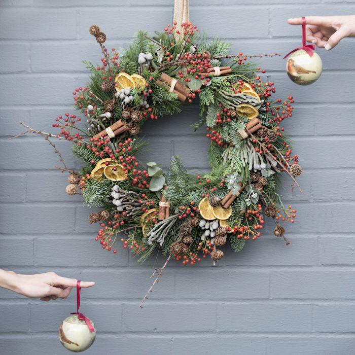 Floom Your London Florist Christmas Wreath 2