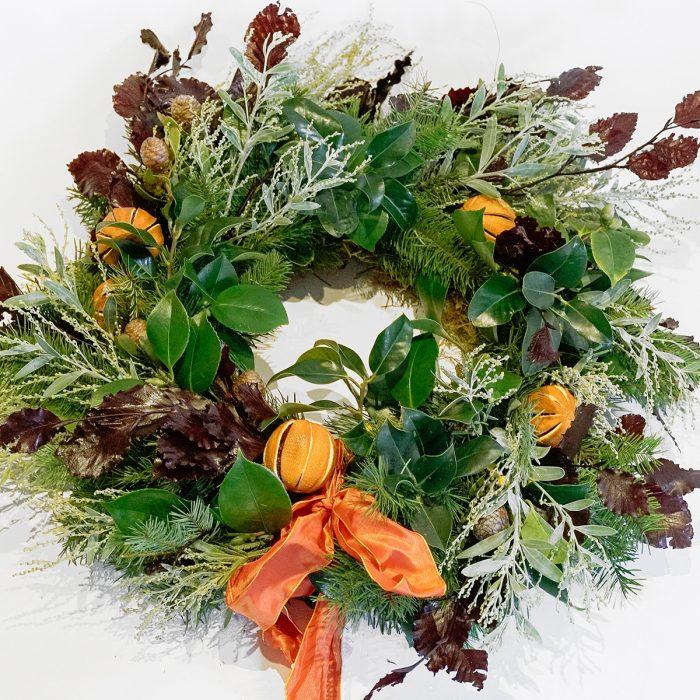 Floom Larkspur Lavender Wreath Orange 1