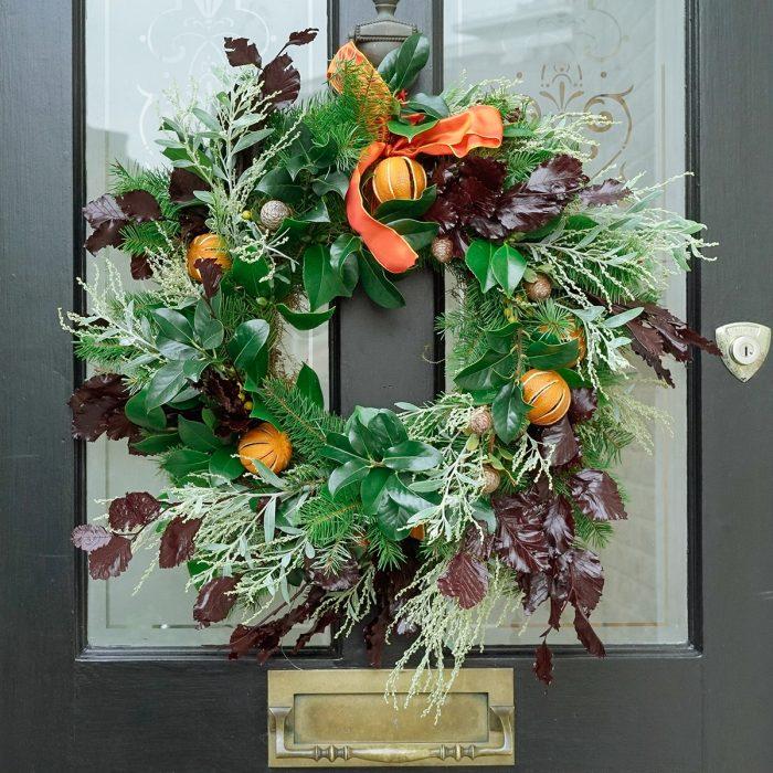 Floom Larkspur Lavender Wreath Orange 2