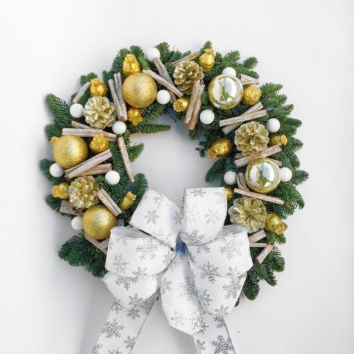 Floom Gardenia Of London Wreath Gold 1