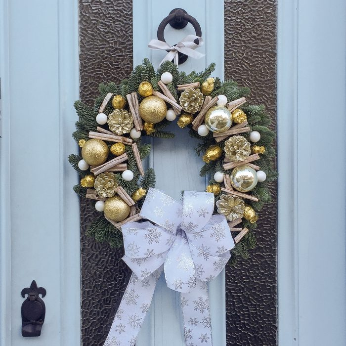 Floom Gardenia Of London Wreath Gold 2