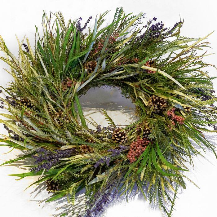 Floom Larkspur Lavender Christmas Wreath Wild 1
