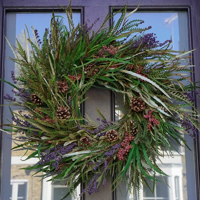 Floom Larkspur Lavender Christmas Wreath Wild 2
