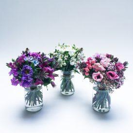 Floom Bloomsbury Flowers Jam Jar Selection Bouquet Camomile Anemone 1