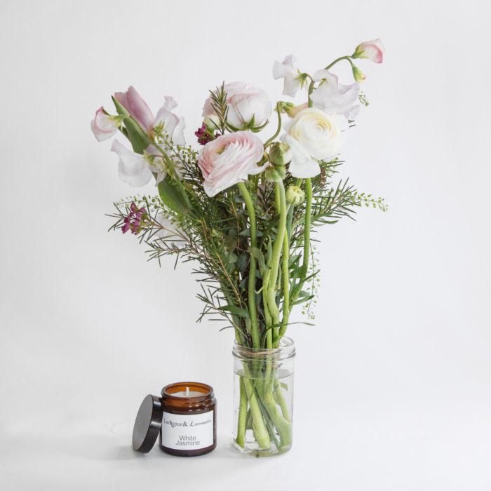 Floom Larkspur Lavender Jar Candle Pink 1