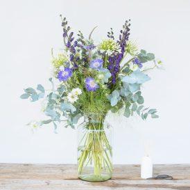 Floom The Fresh Flower Company Large Purples Flowers Bouquet Nigella Mint 1