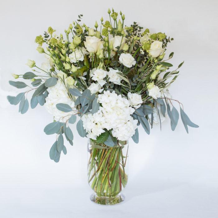 Floom Rose Mary Large White Vase 1