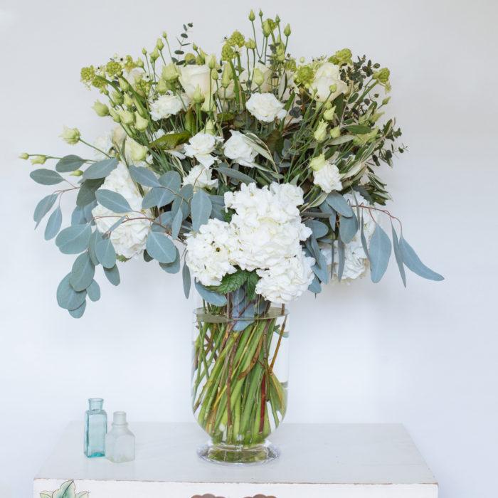 Floom Rose Mary Large White Vase 2