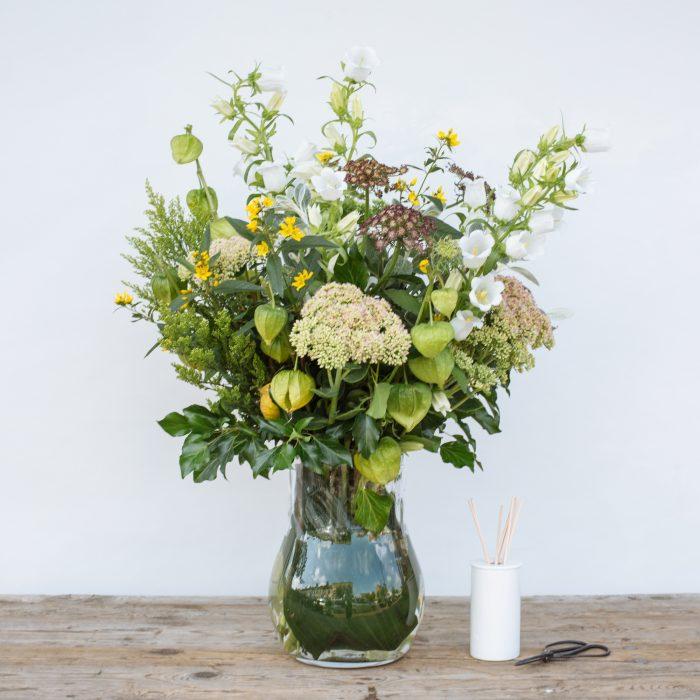 Floom The Fresh Flower Company Flowers Bouquet Late Summer Vase Campanula Sedum 1