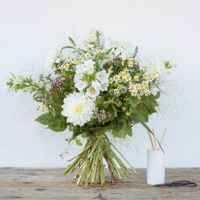 Floom The Fresh Flower Company Flowers Bouquet Late Summer White Posy Dahlia 2