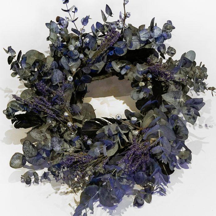 Floom Larkspur Lavender Christmas Wreath Purple 1