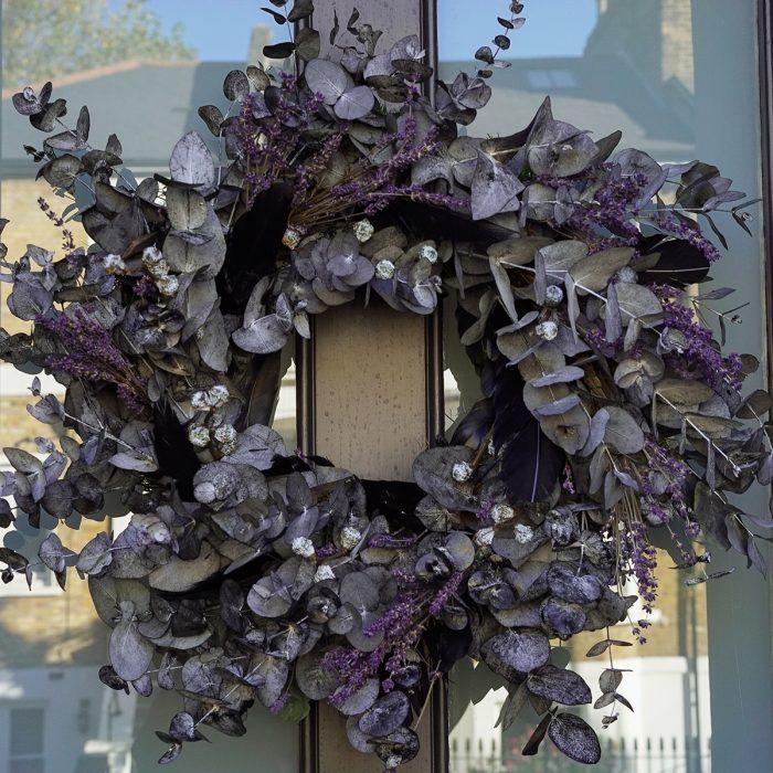 Floom Larkspur Lavender Christmas Wreath Purple 2