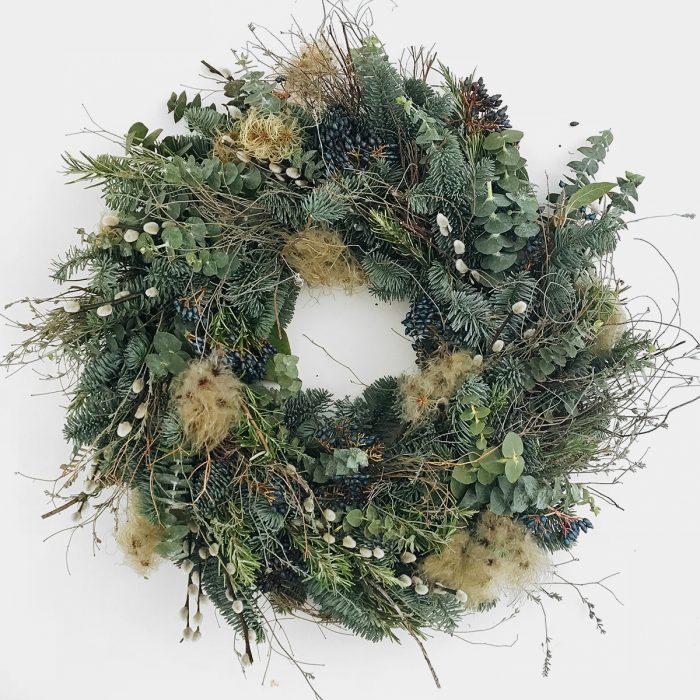 Floom Bramble Wild Green Wreath 1
