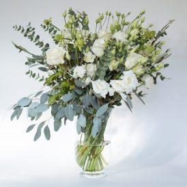 Floom Rose Mary Medium White Vase 1
