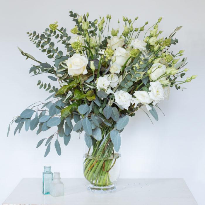 Floom Rose Mary Medium White Vase 2