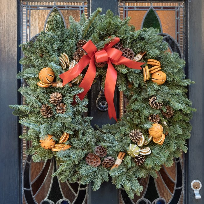Floom Queens Park Station Flowers Christmas Wreath Red Orange 2