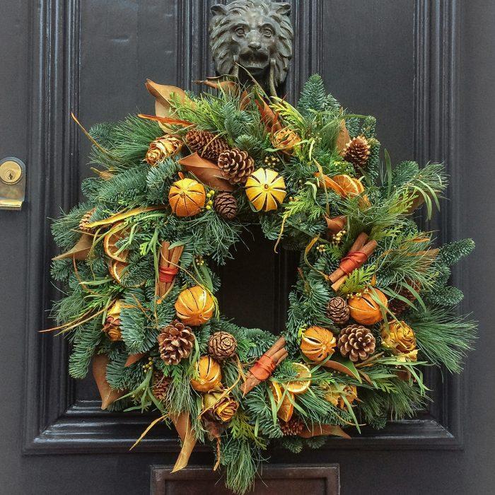 Floom Rose Mary Christmas Wreath Orange Cinnamon 2