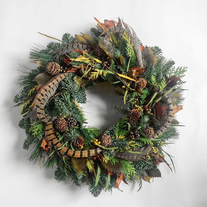 Floom Rose Mary Christmas Wreath Pheasant 1