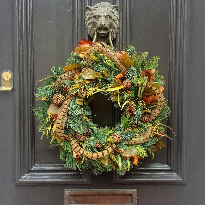 Floom Rose Mary Christmas Wreath Pheasant 2