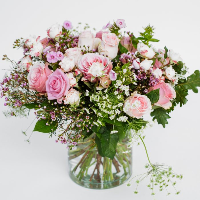 Floom The White Orchid Pink Roses 1
