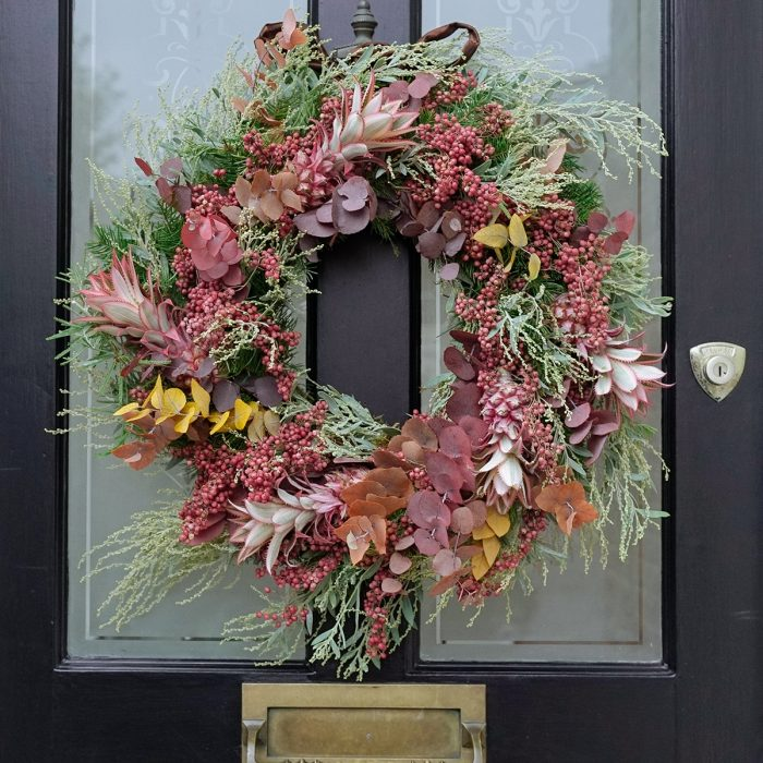 Floom Larkspur Lavender Wreath Pink Pineapple 2
