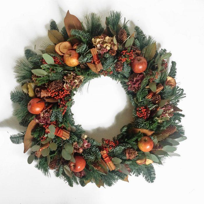 Floom Rose Mary Christmas Wreath Red Apple 1